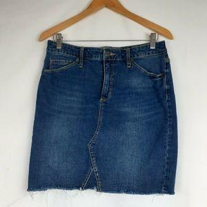 Universal Thread Jean Skirt Pencil Raw Hem 12/31